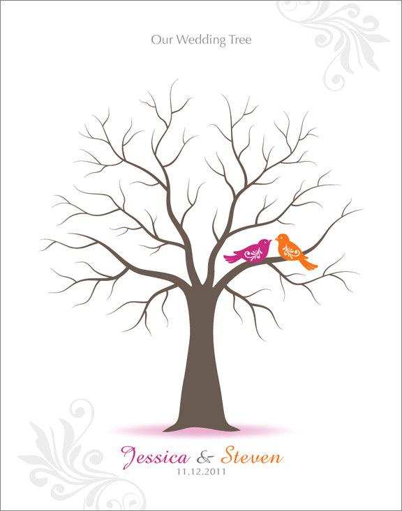 Wedding Fingerprint Tree Template http://www.bestdestinationwedding ...