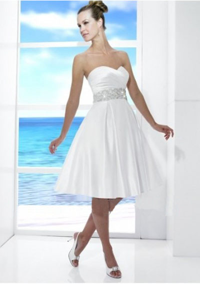 Simple Short Wedding Dresses For The Beach : Short skirt beach simple wedding gown pictures to pin on