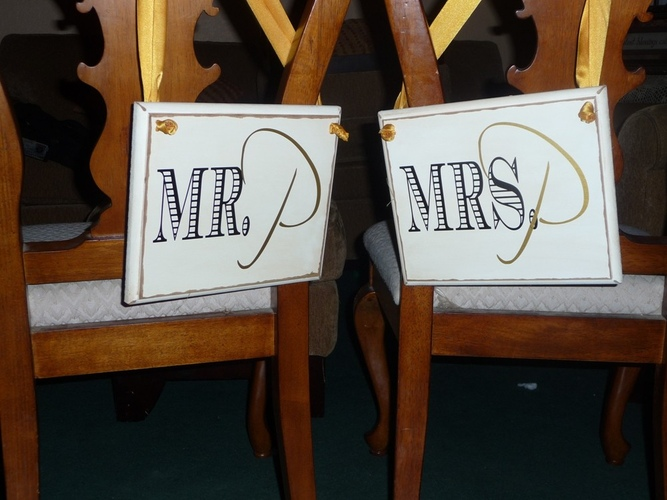 free template wedding chair signs