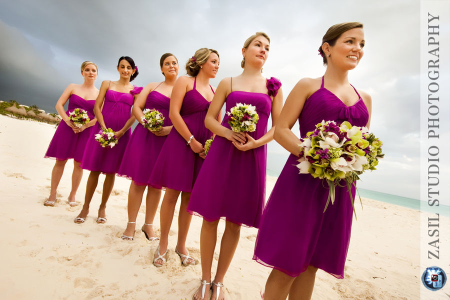 Chiffon Dresses: Bridesmaid Dresses Fuschia