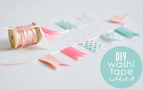 DIY Washi Tape Wedding Craft Ideas