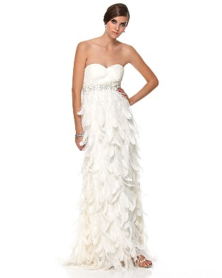 FS Brand New Gorgeous Feather Wedding Dress