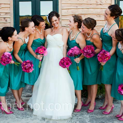 Fuchsia And Turquoise Wedding Colors