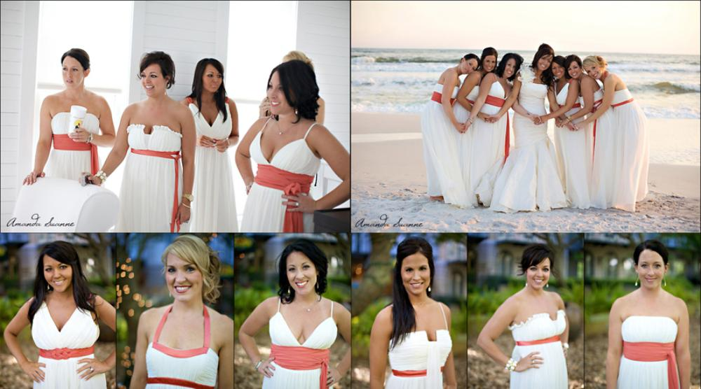 Bridesmaid beach wedding dress
