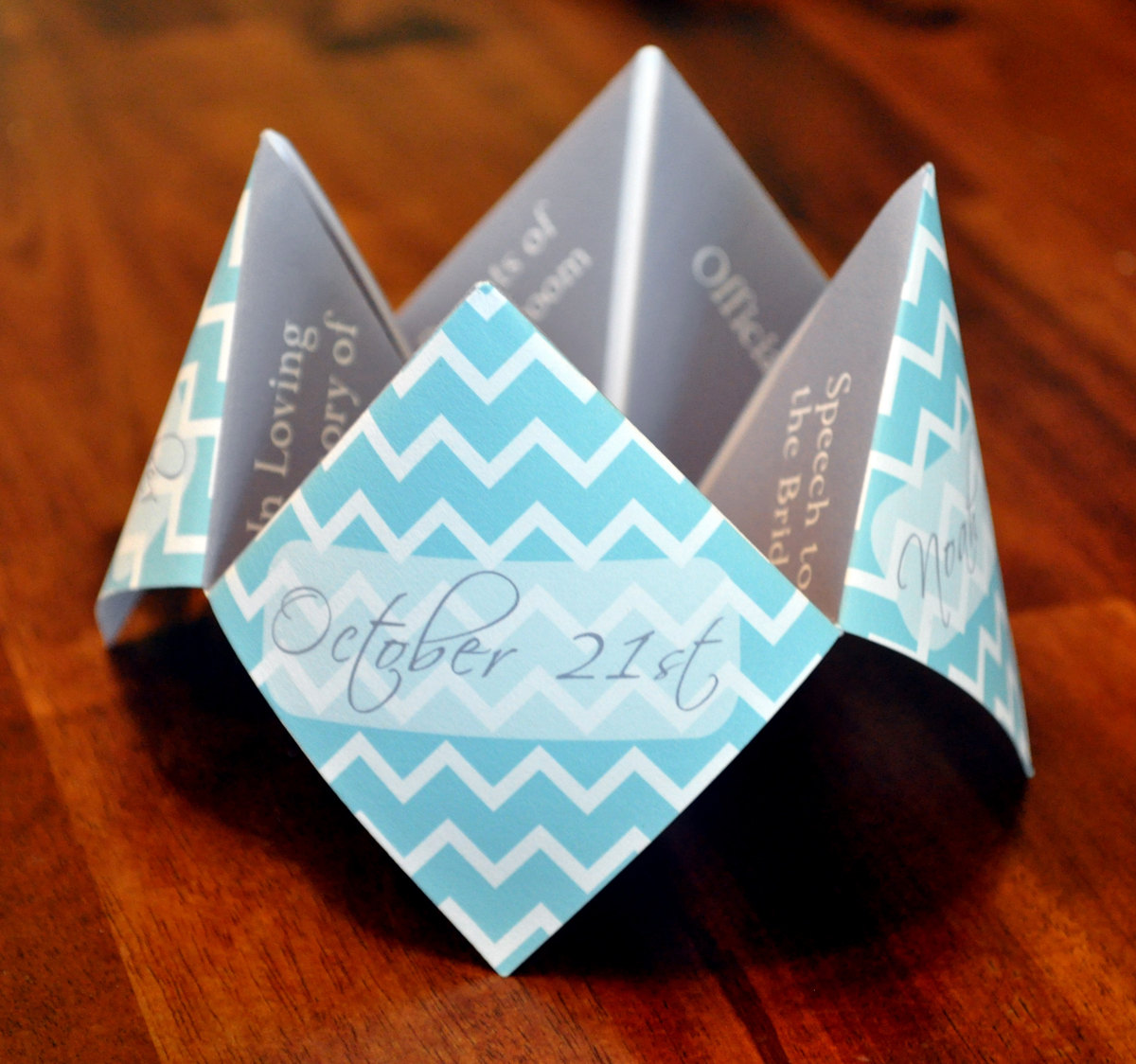 A Fun Throwback To Our Youth These Cootie Catcher Programs Add Playful Touch Any Wedding Just Choose The Paper Pattern Colors And Text That Suit
